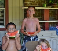 Tired watermelon faces
