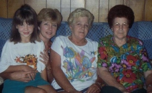 Four generations of women.