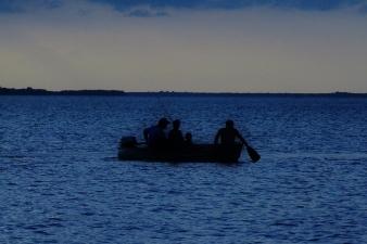 Small Boat at Dusk