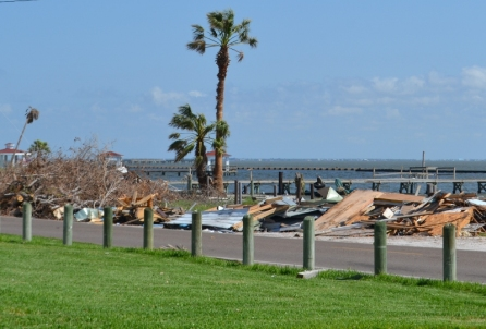 Beach Road cleared Aransas Bay