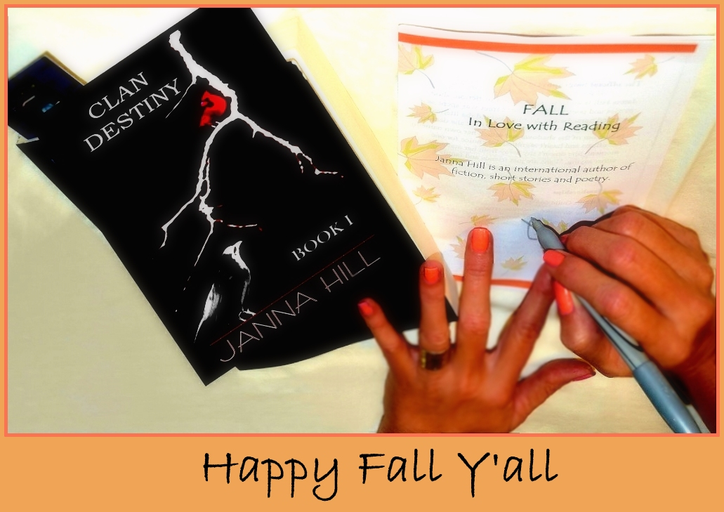 Fall in love with reading Happy Fall Y'all