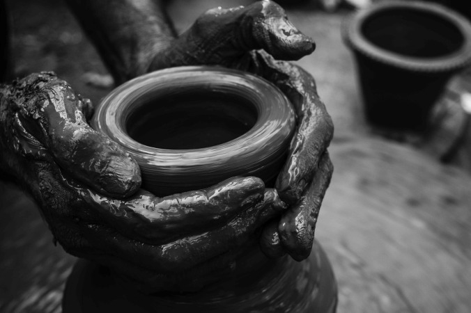 pottery-sculpting