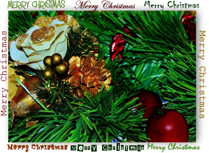 Red Gold n Green Christmas Card