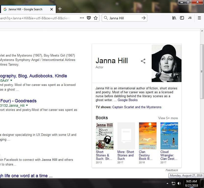 screenshot JANNA HILL google